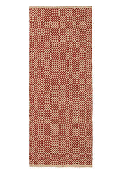 Diamond pattern 100% Jute handloom rugs - 60cm x 150cm