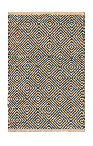 Diamond pattern 100% Jute handloom rugs - 60cm x 90cm