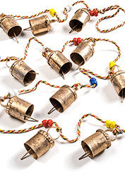 String of traditional Indian bells - 100cm