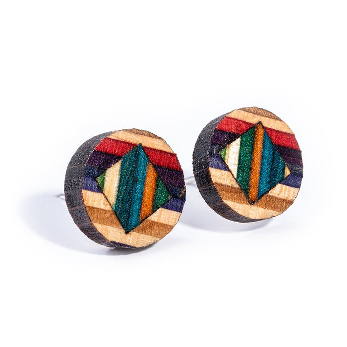 Roundmix Up-cycled Skateboard Earrings