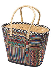 Palm leaf shopper bags - 3 colourful designs