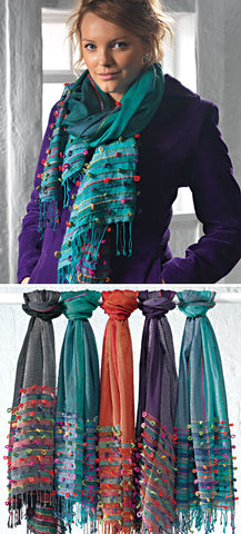 Indian Looped Scarf - Choice of 5 colours