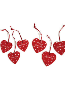 Soapstone heart gift tags with message
