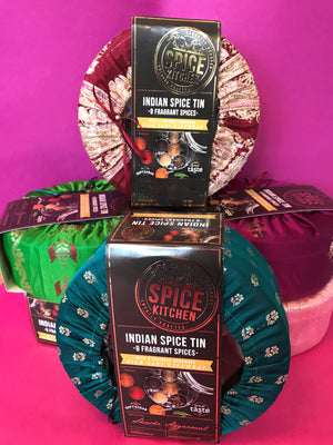 Award Winning 'Spice Kitchen' Indian Spice tins with 9 fragrant spices