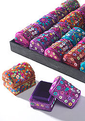 Treasure chest glitter trinket boxes
