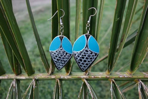Totumo fruit earrings - Mosca Turquoise