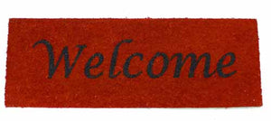 Bright Coloured Welcome coir doormats - 26cm x 75cm
