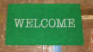 Bright Coloured Message coir doormats - 40cm x 70cm