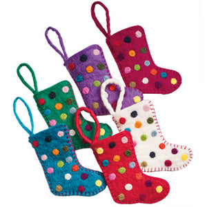 Felt Christmas Tree Decorations - Dotty Stockings