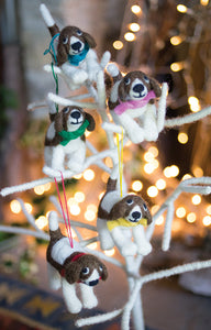 Christmas Tree Decoration - Dog with Scarf