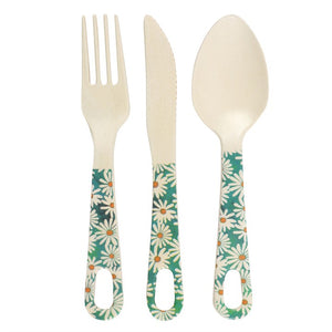 Bamboo Cutlery Set - Choice of 4 Designs