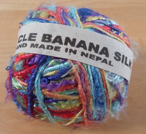Recycled Banana Silk Yarn - Rainbow