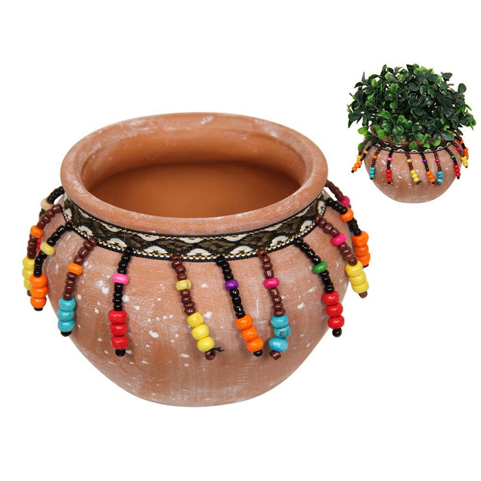 Beaded Terracotta Plant Pot