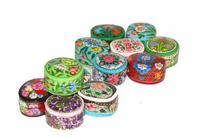 Papier Mache Classic Ring Boxes - Assorted colours and designs