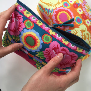 Kaffe Fassett Designs: Cotton Clutch Purse/Makeup Bag