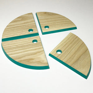 Hand-crafted Wooden Coasters - Set of 4