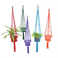 Bright Macrame Plant Hanger - Choice of 6 colours