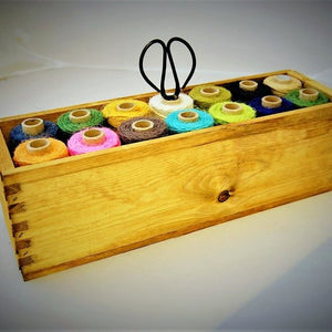 Nutscene: Wooden Crate of Crafting Twines