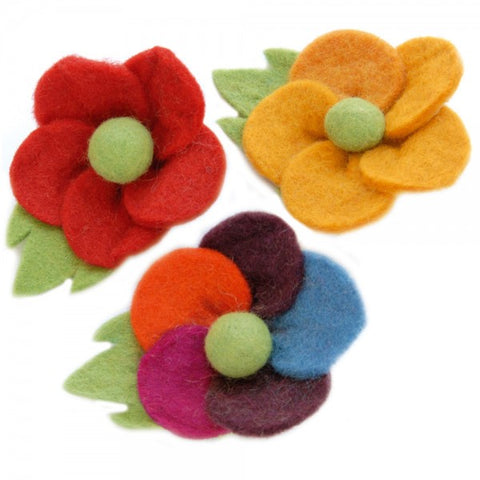 Felt Daisy Brooch - Choice of 7 colours