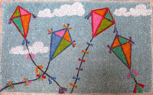 Fly a Kite Design Coconut Fibre Doormat