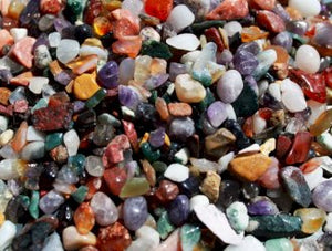 Mixed Natural Gemstone Chips - 200g