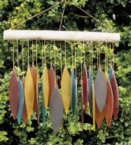 Recycled Glass Windchimes - Autumn Leaves