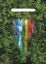 Recycled Glass Windchimes - Rainbow Waterfall