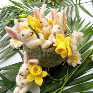 Handmade Felt Easter Decorations - Delilah Bunny