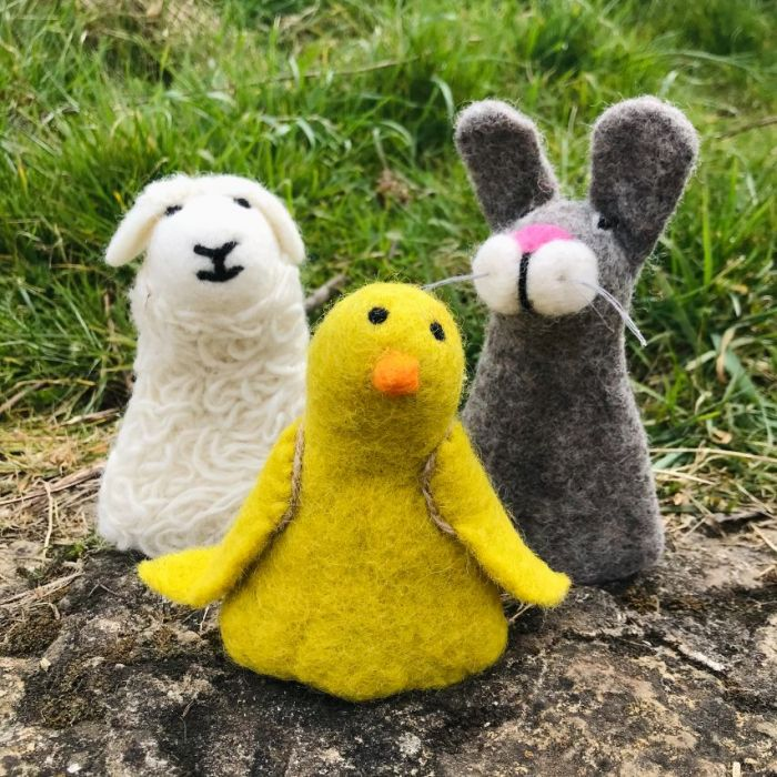 Handmade Felt Easter Decorations - Character Egg Cosies (Choice of 3 designs)