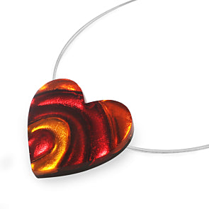 Heart Swirl Pendant Necklace - Choice of 4 Colourways