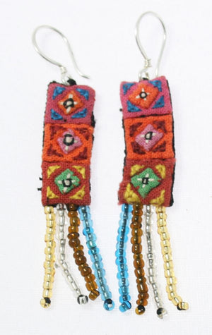 Simple Applique Hmong Earrings