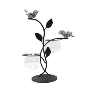 Hydroponic Pots - Double Vase with Birds