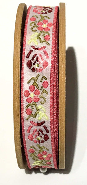 3 metres Fair Trade Embroidered Ribbon - Choice of 6 designs
