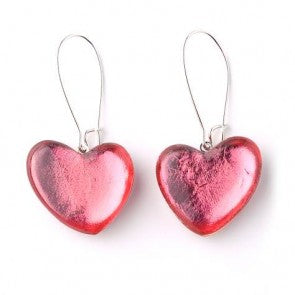Love Heart Loop Earrings - Choice of 4 colours