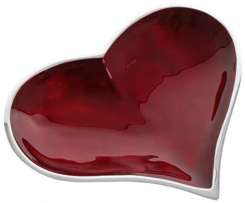 Recycled aluminium heart dish - 5 colours