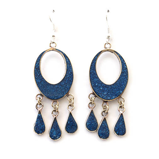 Mexican earrings - Azul Alma