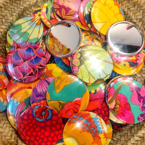 Kaffe Fassett Designs: Colourful Handbag Travel Mirror