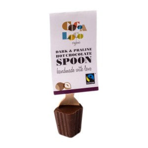 Organic Fairtrade Dark & Praline Hot Chocolate Spoon