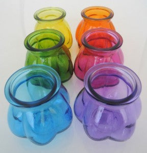 100% Recycled Glass Pumpkin Vases - Choice of 6 colours