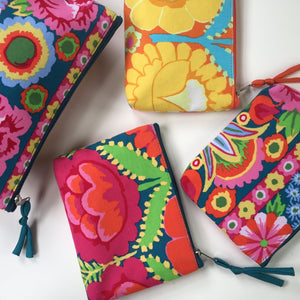 Kaffe Fassett Designs: Cotton Purse/Makeup Bag
