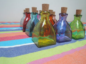 100% Recycled Glass Pyramid Bottles - Choice of 12 colours