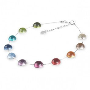 Rainbow Cabouchon necklace