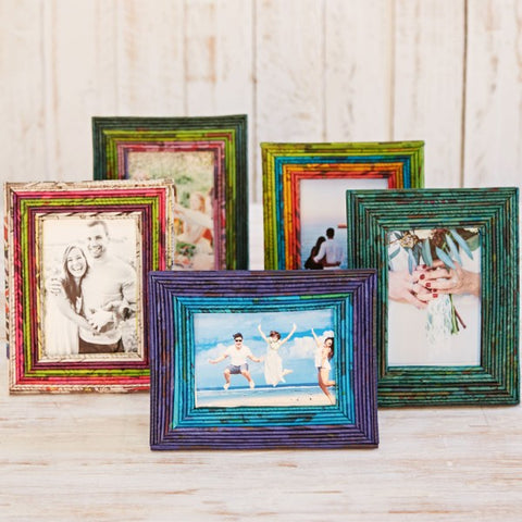 Recycled Newspaper Photo Frames