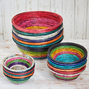 Recycled Newspaper Round Bowl - Small