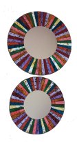Vibrant Mosaic Mirror - Choice of 2 Sizes