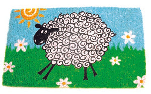 Funky Sheep Design Coconut Fibre Doormat