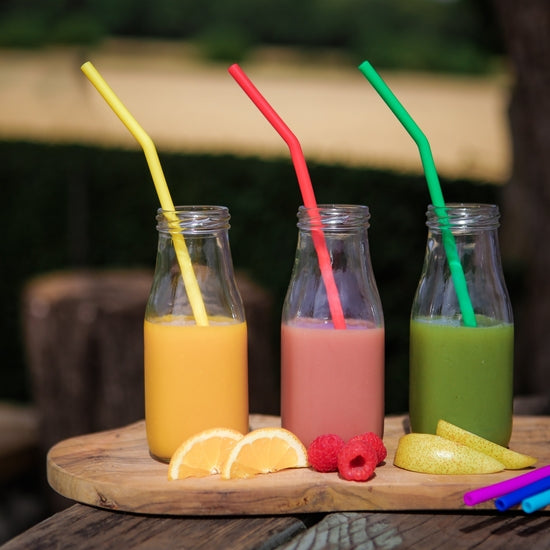 Reusable Silicone Straws - Pack of 6