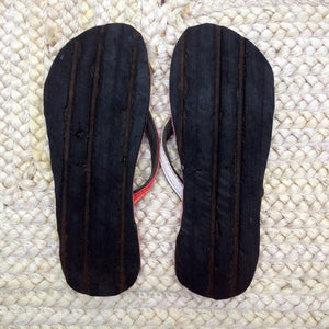 Whaletreads: Recycled Tyre Flip-flops - Red Hemp