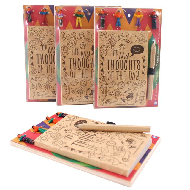 Worry Doll Thoughts Notebook