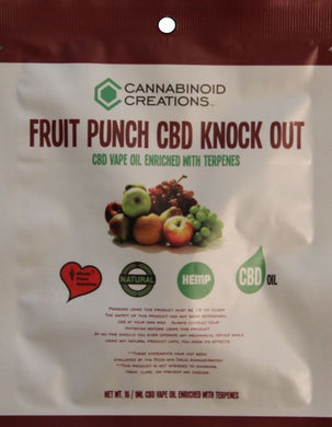 FRUIT PUNCH CBD KNOCKOUT - VAPE OIL - ✈A2FLY
